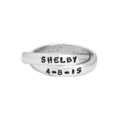 stacking mothers name ring