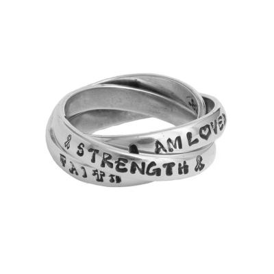 personalized encouragement ring for a friend