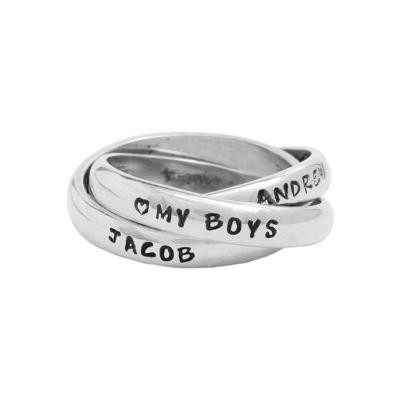 Personalized Grandmother's Ring - triple