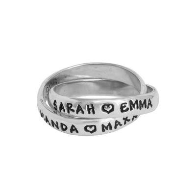 Stackable Mother's Ring with 4 Names