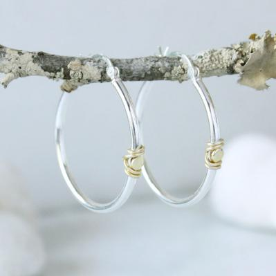 Wire Wrapped Hoop Earrings