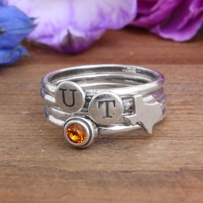 silver stack texas ring