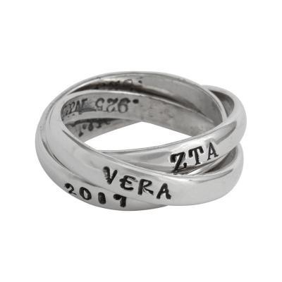 Zeta Sorority Rings, Triple Greek Ring