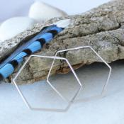 Hex-hoop-earrings-in-Silver