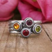 birthstone rings that stack by Nelle and Lizzy