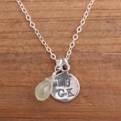 shamrock lucky silver necklace