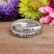 marathon 26.2 sterling silver personalized ring