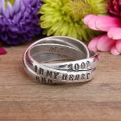 memorial ring with name date