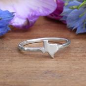 silver stackable texas ring