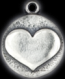 Silver lucky heart charm
