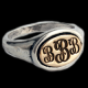 Sterling monogram ring