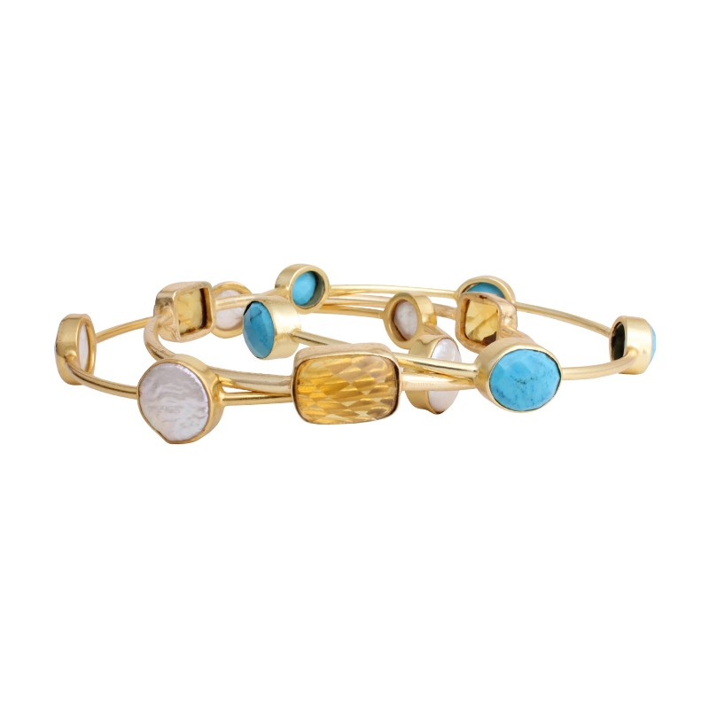 gold birthstone bangle bracelet