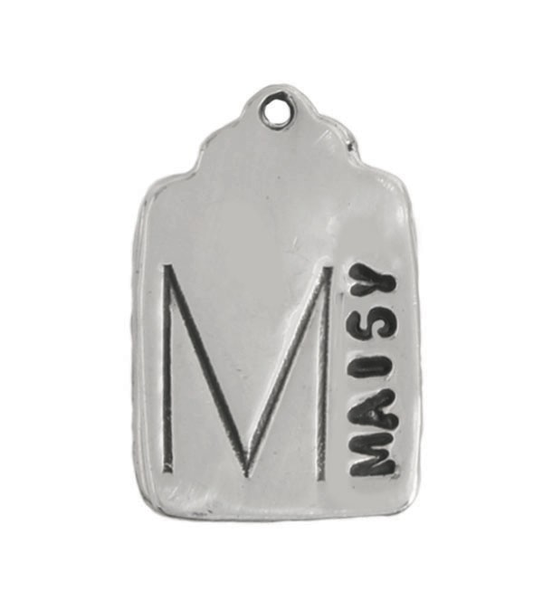 silver stamped mother's charm
