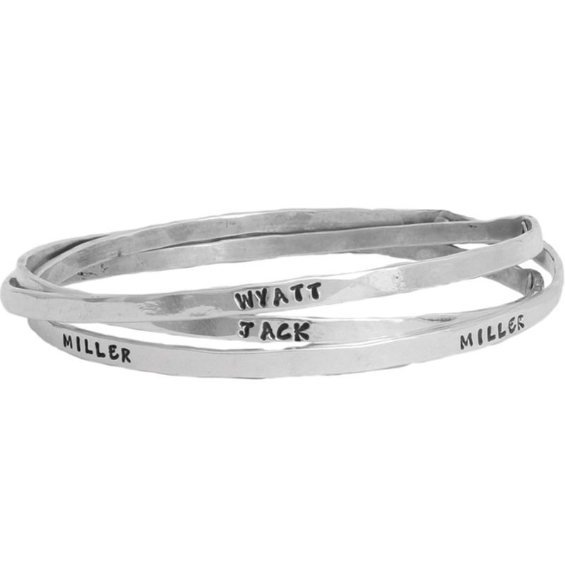 Grandmothers Bangle bracelet with names - Triple