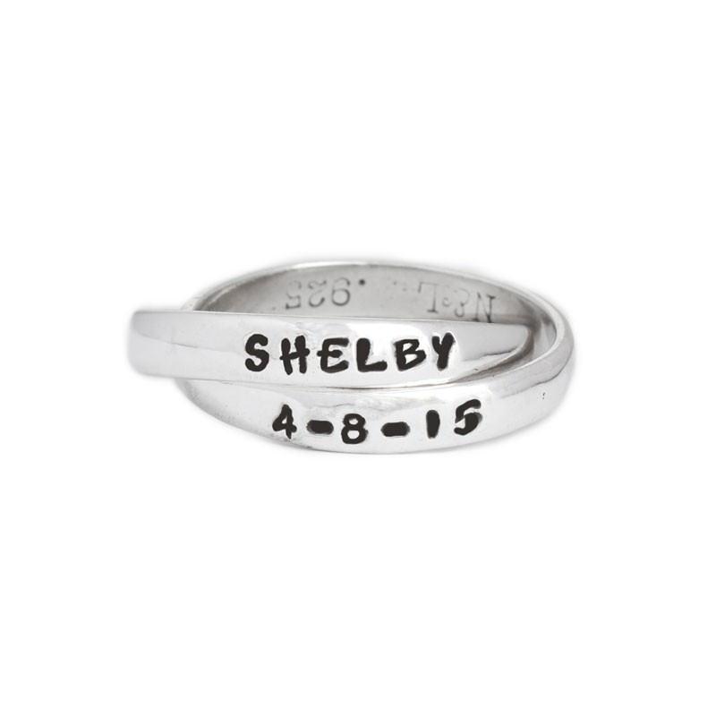 Mother's Ring Personalized for One Child - Double