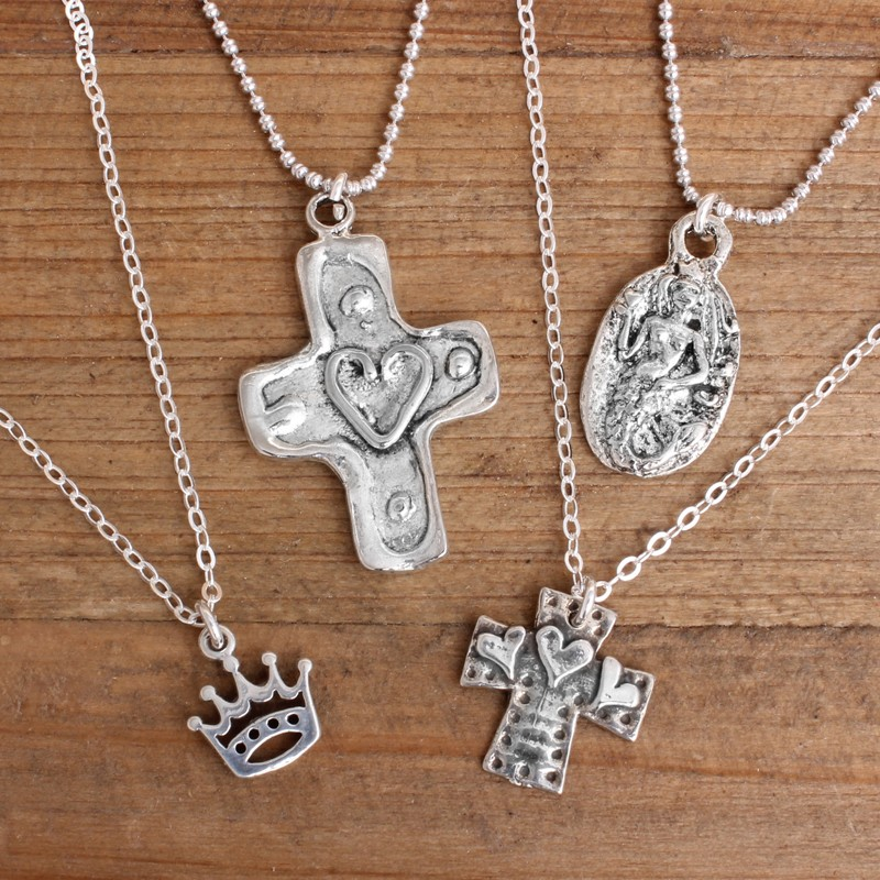 sterling silver charm necklaces
