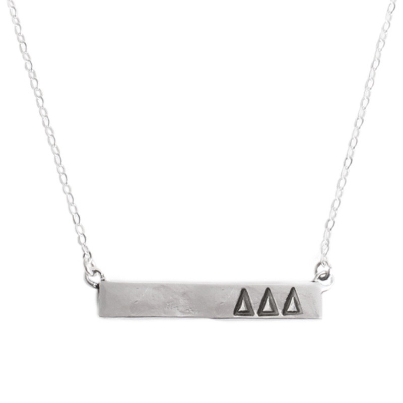 sorority bar plate necklace