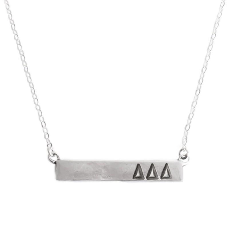 sorority bar plate necklace