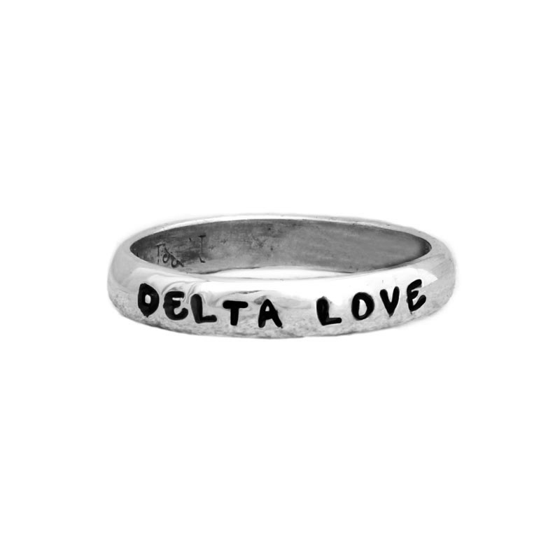 delta delta delta sorority sister personalized ring