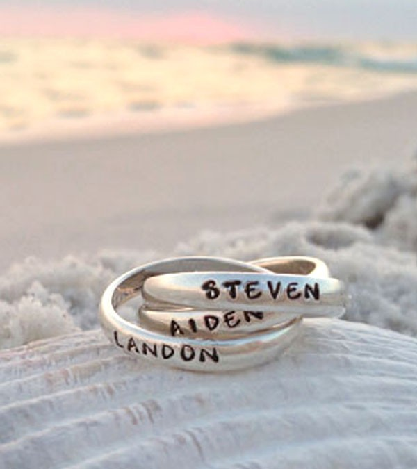 Personalized thumb ring