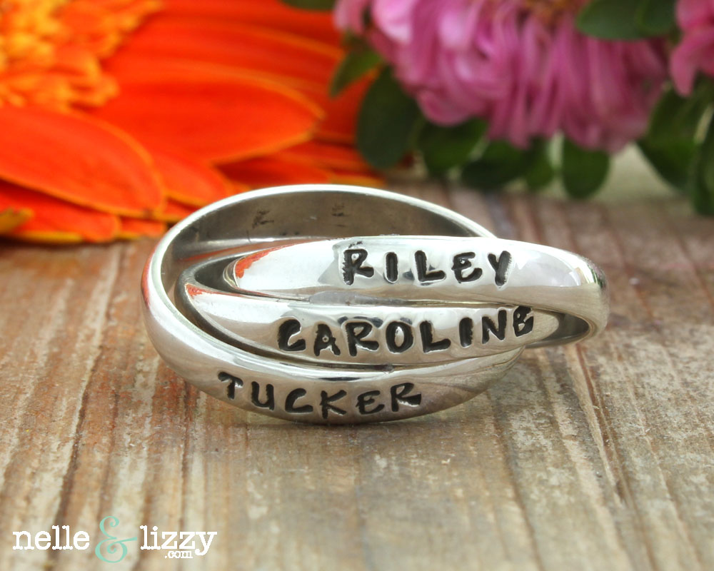 mother ring with children's names