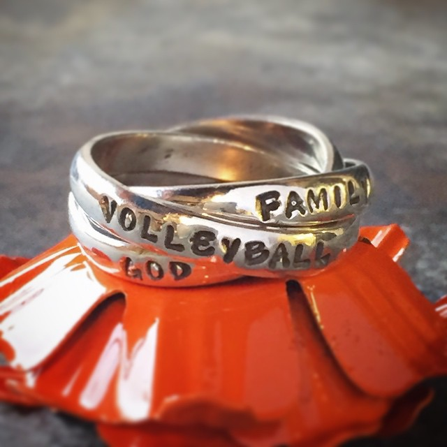 family, volleyball, God, reminder ring