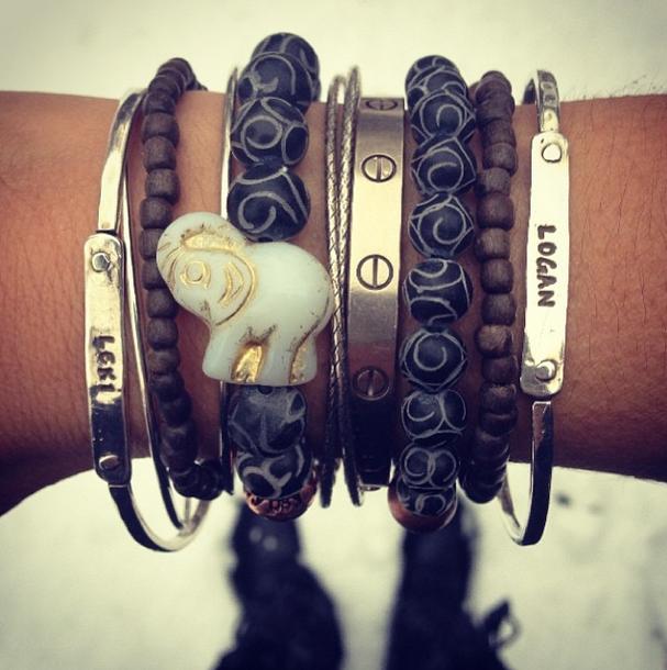 mother name bangle bracelets