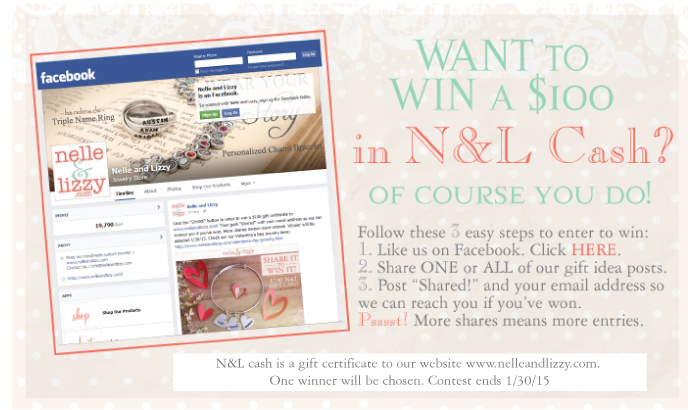 share it to win nelle and lizzy facebook contest