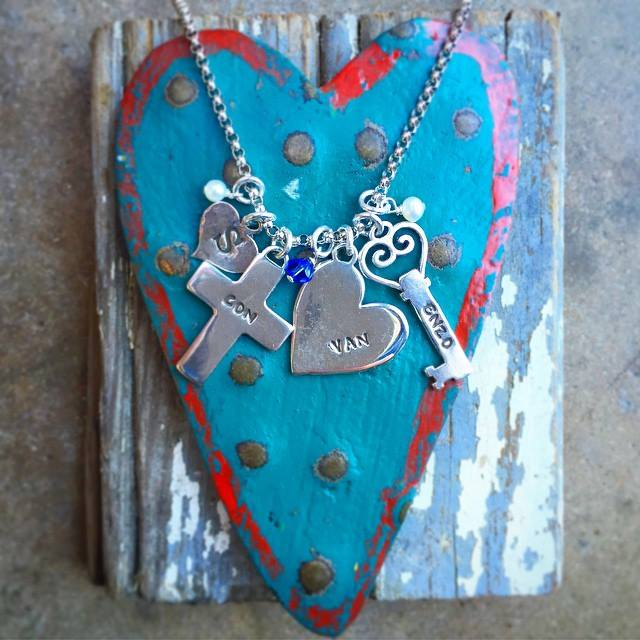 mothers family charm necklace