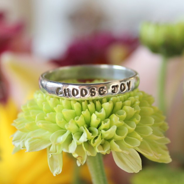 choose joy encouragement ring
