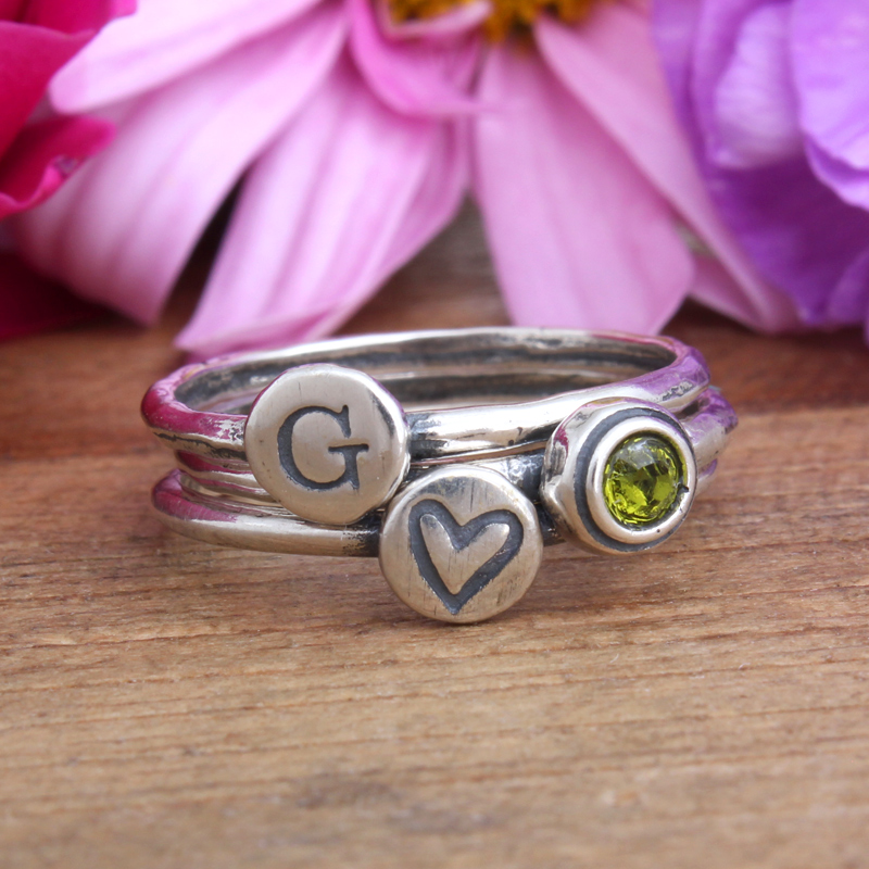 Mother's Stackable Rings