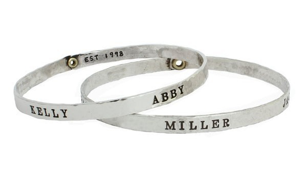 Personalized name bracelet.