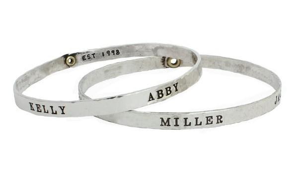 Personalized name bracelet.