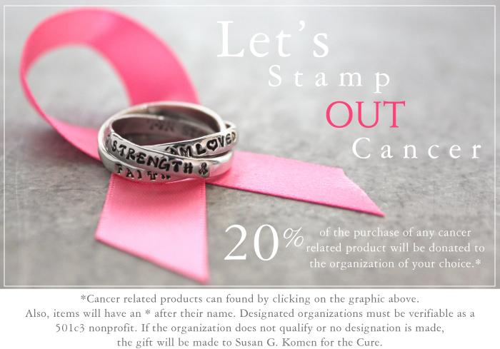 Cancer survivor jewelry.
