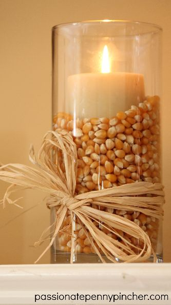thanksgiving candle decor