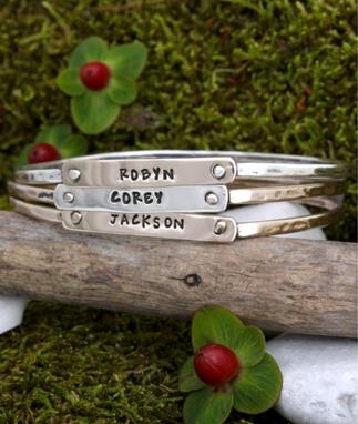 personalized bangle bracelets with custom nameplate