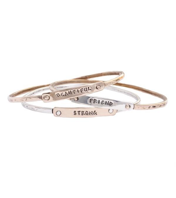 bangle bracelet in mixed metals