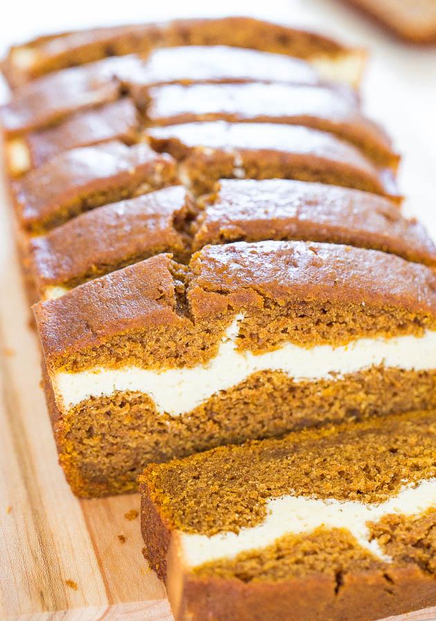 pumpkin cheesecake cream dessert