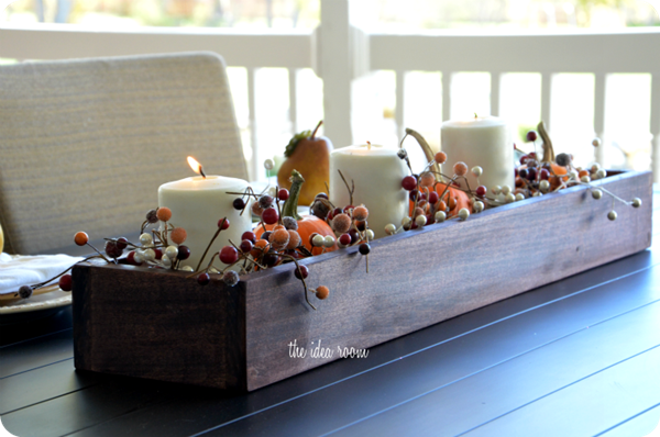 centerpiece for holiday table