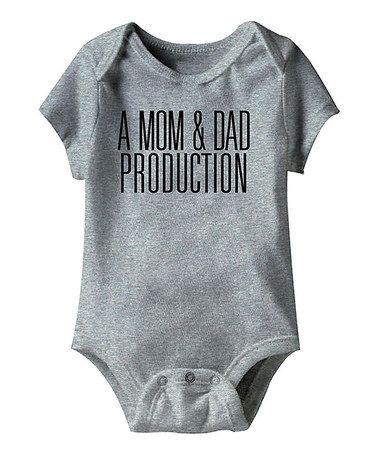 mom & dad production funny onesie