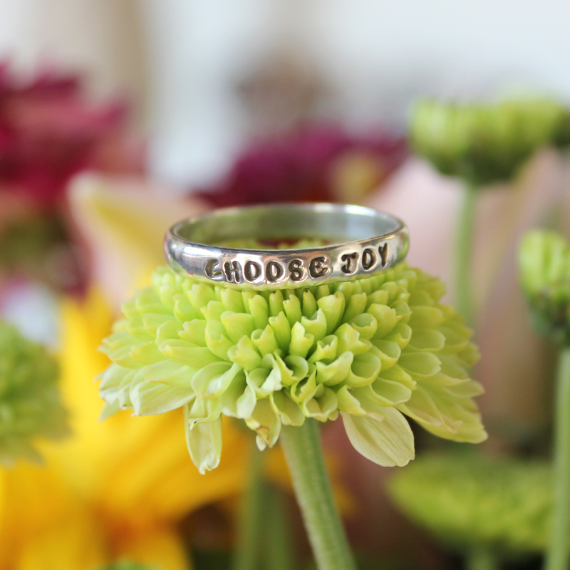 choose joy sterling silver ring