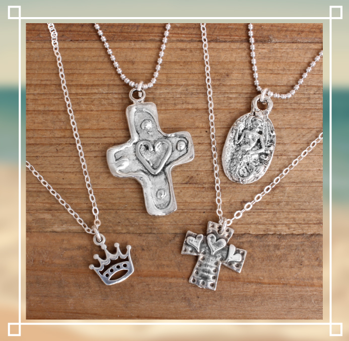 sale sterling silver charm necklaces