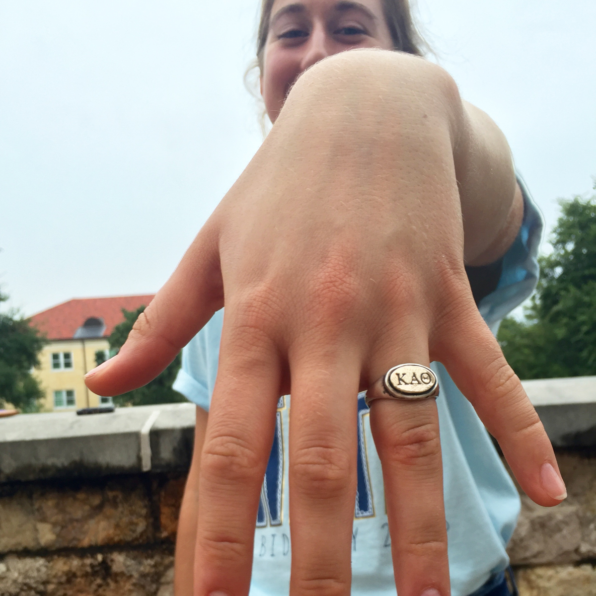 monogram sorority ring