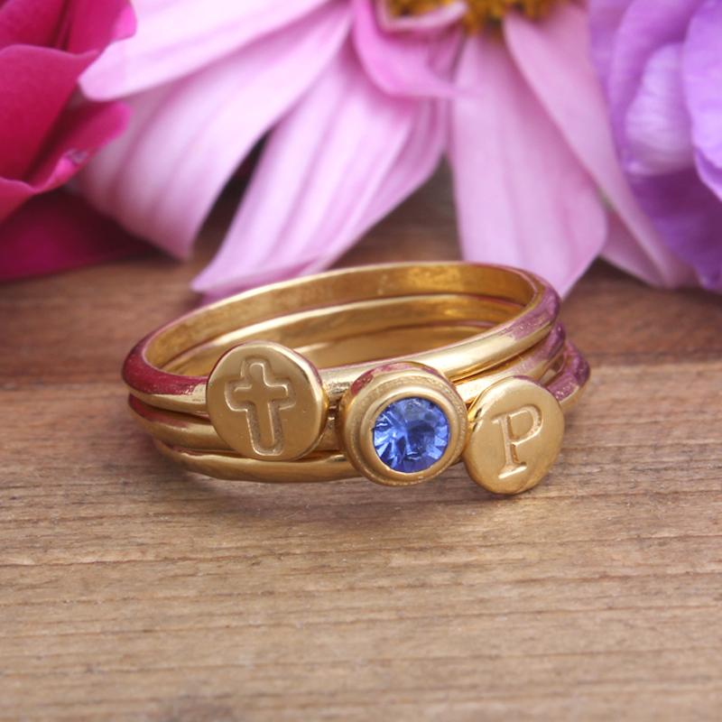 september gold birthstone ring