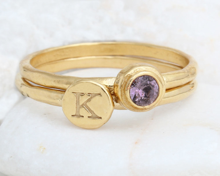 amethyst ring from Nelle & Lizzy